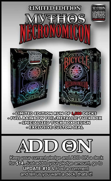 NECRONOMICON Foil Tuck Bicycle Playing Cards