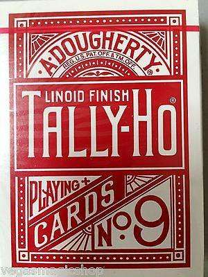 Tally-Ho Red Fan Back Playing Card Deck:PlayingCardDecks.com