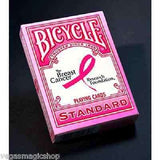 Pink Ribbon Bicycle Playing Cards Deck:PlayingCardDecks.com