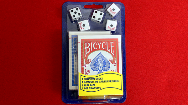 Bicycle Playing Cards 2 Deck Set & 5 Dice