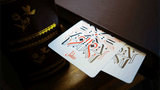 Cardistry Calligraphy Playing Cards - Blue & Red - PlayingCardDecks.com