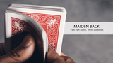 Marked VF Maiden Back Bicycle Playing Cards - Blue & Red:PlayingCardDecks.com