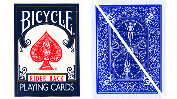 Split Eyed Popper Bicycle Trick Playing Cards Blue