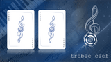 Treble Clef Blue Marked Playing Cards JJPC jokers
