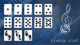 Treble Clef Blue Marked Playing Cards JJPC spades