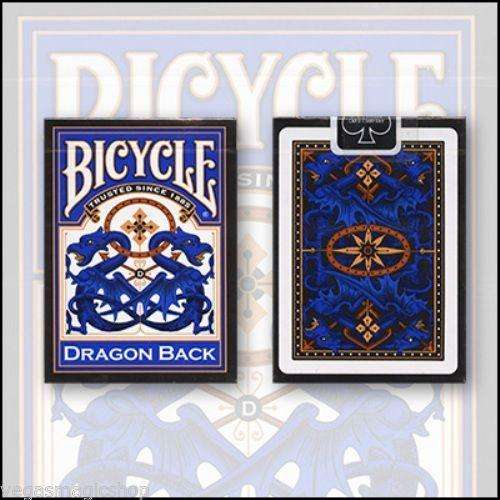 Dragon Back Blue Bicycle Playing Cards Deck - PlayingCardDecks.com