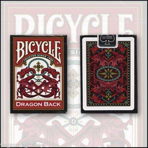 Dragon Back Red Bicycle Playing Cards Deck - PlayingCardDecks.com