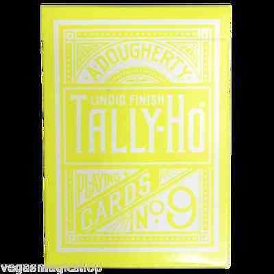 Reverse Yellow Circle Back Tally-Ho Playing Cards Deck:PlayingCardDecks.com
