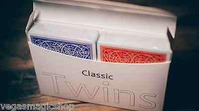 Classic Twins Red & Blue 2 Deck Set Playing Cards - PlayingCardDecks.com