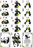 Pandamonium Green Bicycle Playing Cards:PlayingCardDecks.com