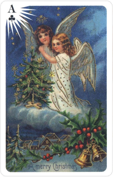 Christmas Angels.Old Time Christmas Angels Playing Cards Usgs