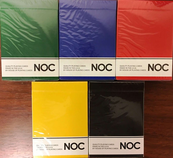NOC Original Playing Cards USPCC - Yellow, Blue, Red, Green & Black