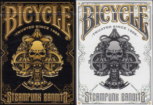 Bicycle Steampunk Bandits Metal Card Stainless Steel Limited