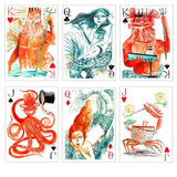 Mermaid Queen Playing Cards Courts