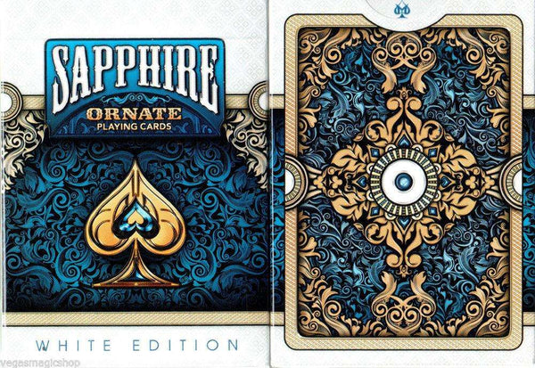 Ornate White Sapphire Playing Cards Deck USPCC:PlayingCardDecks.com
