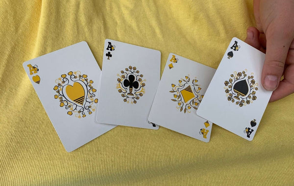 Gilded Bicycle Beekeeper Playing Cards VERY LIMITED EDITION Light
