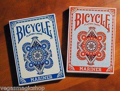 Mariner Red & Blue 2 Deck Set Bundle Bicycle Playing Cards:PlayingCardDecks.com