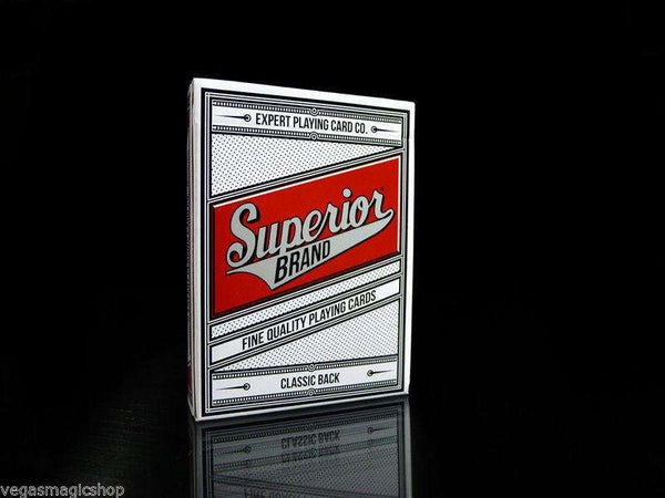Superior Brand Red Classic Back Readers Playing Cards Deck EPCC:PlayingCardDecks.com
