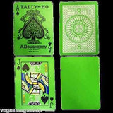Reverse Circle Green Back Tally-Ho Playing Cards Deck:PlayingCardDecks.com