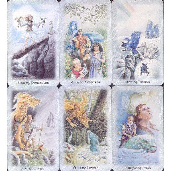 The Celtic Dragon Tarot Kit - 78 Card Deck & 216 Page Book