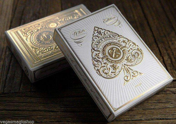 Artisan White Playing Cards Deck - PlayingCardDecks.com