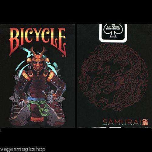Feudal Samurai Numbered & Signed Sleeve Bicycle Playing Cards Deck - PlayingCardDecks.com