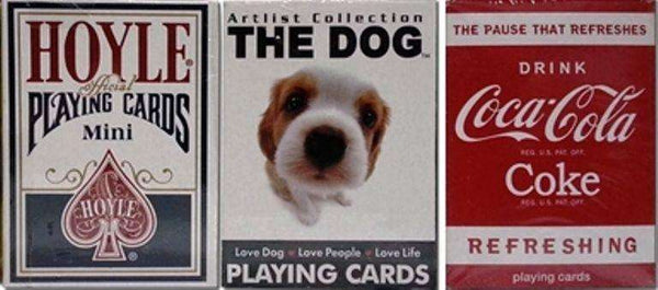 Hoyle Dog Coke 3 Deck Set Mini Playing Cards Small Size:PlayingCardDecks.com