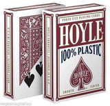 Hoyle 100% Plastic Blue & Red Deck Set Playing Cards:PlayingCardDecks.com