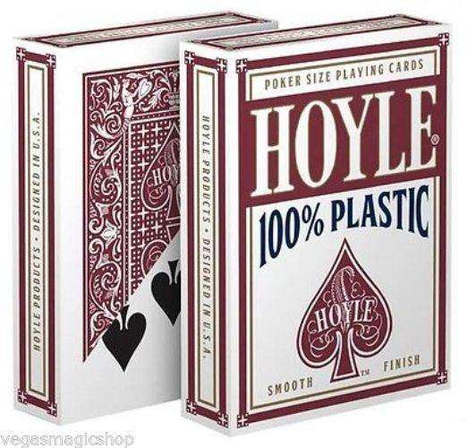 Hoyle 100% Plastic Red Playing Cards Deck:PlayingCardDecks.com