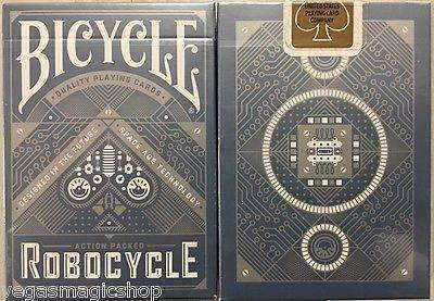 Robocycle Blue Bicycle Playing Cards Deck:PlayingCardDecks.com