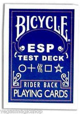 ESP Test Deck Bicycle Playing Cards Blue Rider Back - PlayingCardDecks.com