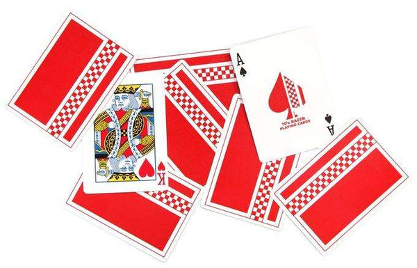 70's Racer Cardistry Playing Cards USPCC - Red: PlayingCardDecks.com