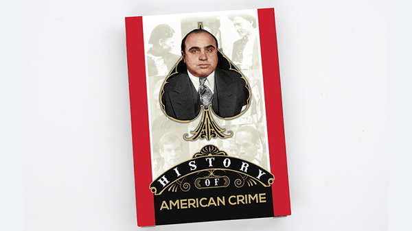 Details about  /History of American Crime Playing Cards Poker Size Deck WJPC Custom Limited New
