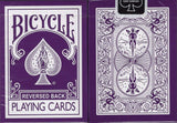 Purple Reversed Back Bicycle Playing Cards:PlayingCardDecks.com