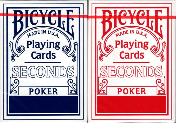 Bicycle Factory Seconds 2 Deck Set Blue & Red Playing Cards - PlayingCardDecks.com