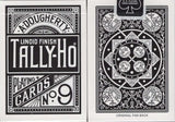 Black Fan Back Tally-Ho Playing Cards - PlayingCardDecks.com