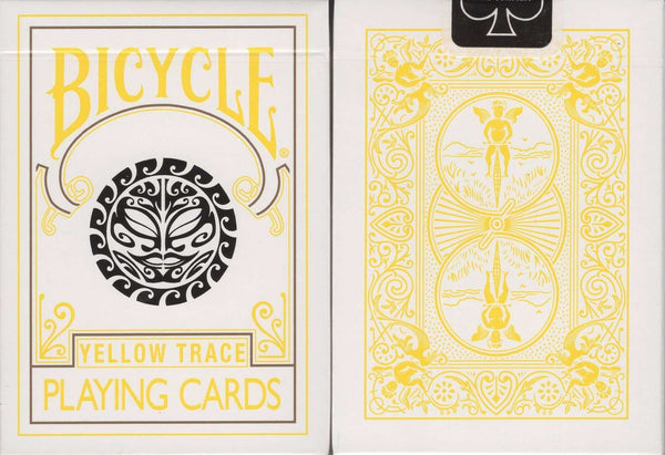 Yellow Trace Bicycle Playing Cards:PlayingCardDecks.com