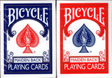 Marked Maiden Back Bicycle Playing Cards - Blue & Red:PlayingCardDecks.com