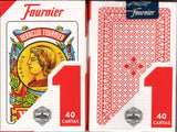 Heraclio Fournier No. 1 Spanish Playing Cards - Blue & Red:PlayingCardDecks.com