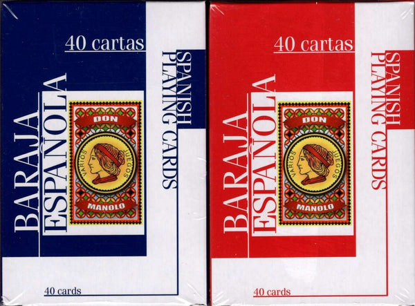 Don Manolo Spanish Suite Playing Cards USPCC - 2 Deck Set - PlayingCardDecks.com