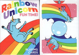 Rainbow Unicorn Fun Time! Playing Cards USPCC:PlayingCardDecks.com
