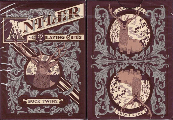 Antler Playing Cards USPCC - Green & Maroon - PlayingCardDecks.com