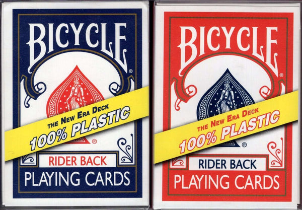 100% Plastic Bicycle Playing Cards - Blue & Red - PlayingCardDecks.com