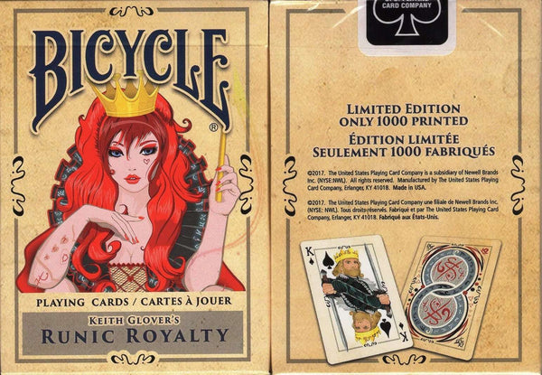 Runic Royalty Bicycle Playing Cards:PlayingCardDecks.com
