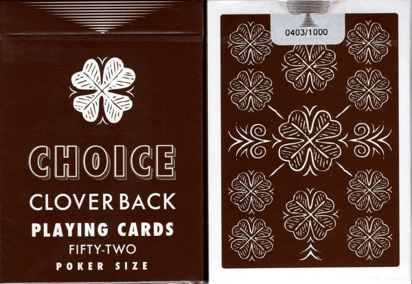 Choice Clover Back Brown Playing Cards USPCC - PlayingCardDecks.com