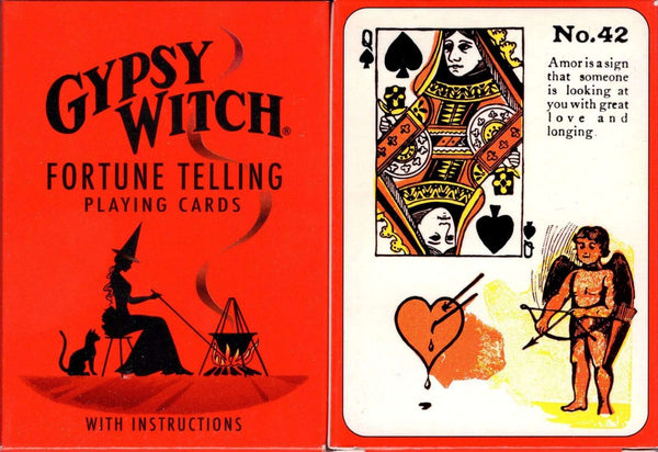 Gypsy Witch Fortune Telling Playing Cards USGS