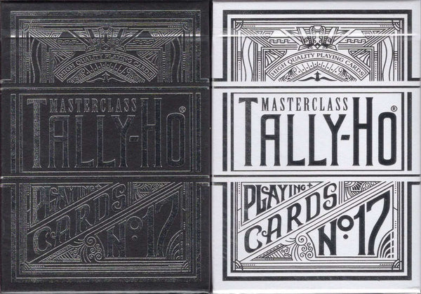 Masterclass Tally-Ho Playing Cards - Black & White:PlayingCardDecks.com