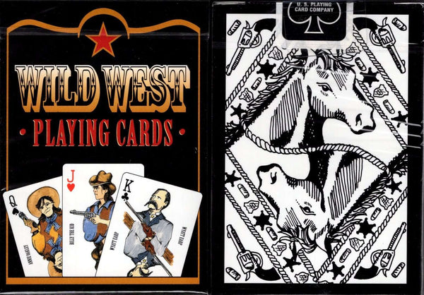 Wild West Black Playing Cards USPCC