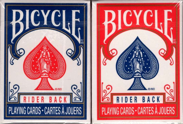 Mini Bicycle Rider Back Playing Cards - 2 Deck Set