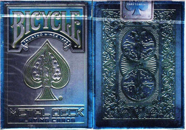 Metal Rider Back Blue Bicycle Playing Cards:PlayingCardDecks.com